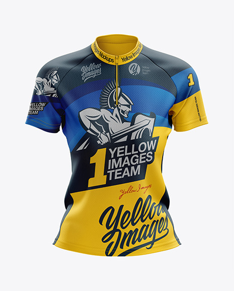 Download Womens Cross Country Jersey 2020Front View PSD Mockup