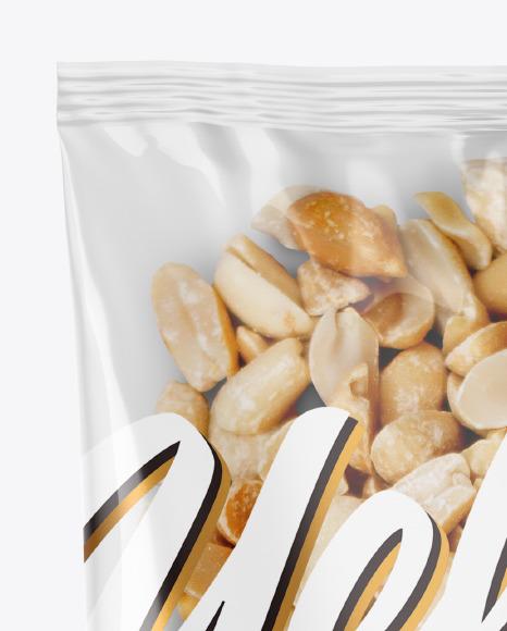 Plastic Bag with Peanuts Mockup