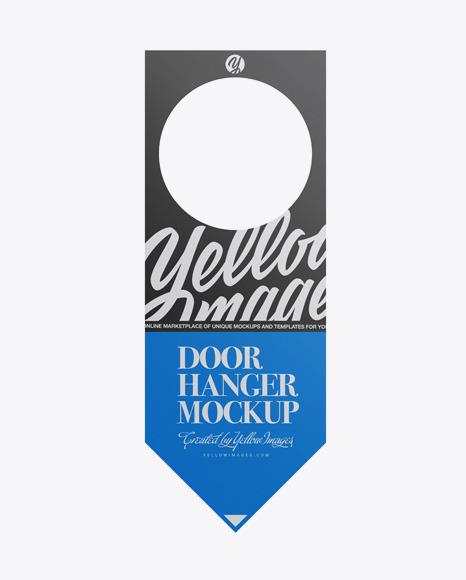 Download Paper Door Hanger PSD Mockup