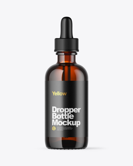 Download Amber Dropper Bottle PSD Mockup