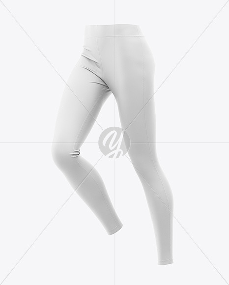 Women's Leggings Mockup - Front Half-Side View