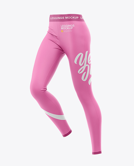 Download Womens Leggings Front HalfSide View PSD Mockup
