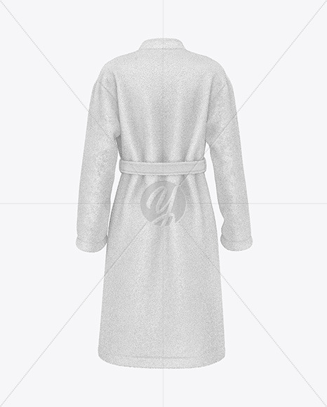 Women's Terry Robe Mockup - Back View