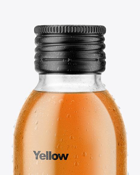 100ml Clear Glass Bottle in Shrink Sleeve Mockup
