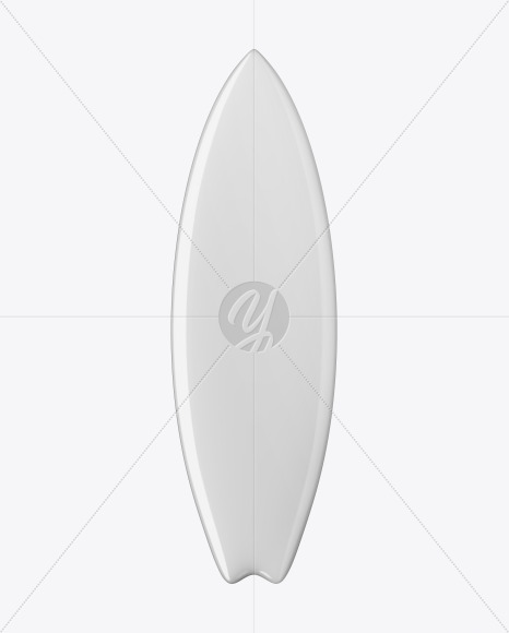 Surfboard Fishboard Mockup - Front View