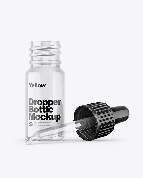 Download Opened Glass Dropper Bottle PSD Mockup