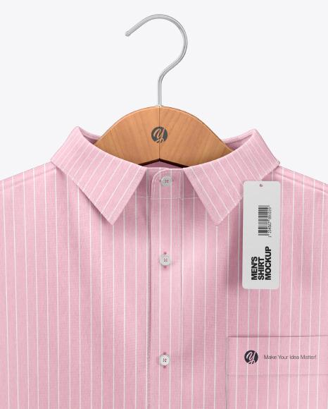 Melange Men's Shirt on Hanger Mockup