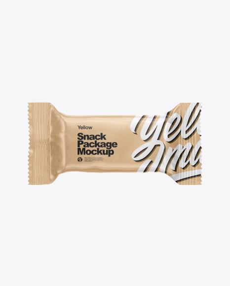 Download Kraft Paper Snack Bar PSD Mockup