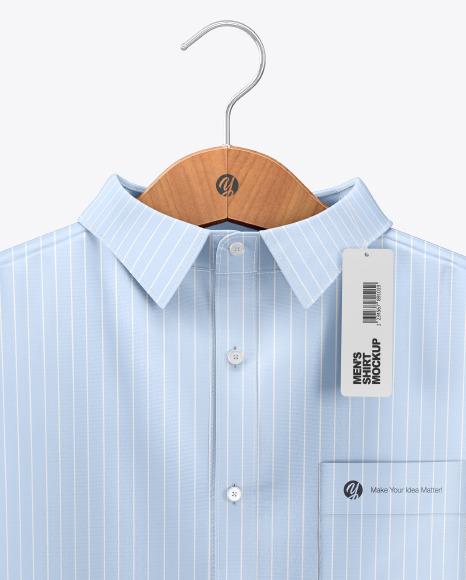 Men's Shirt on Hanger Mockup