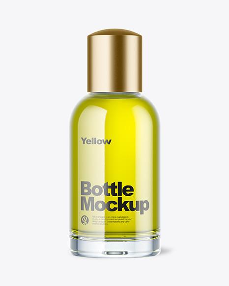 Download Oil Glass Bottle PSD Mockup