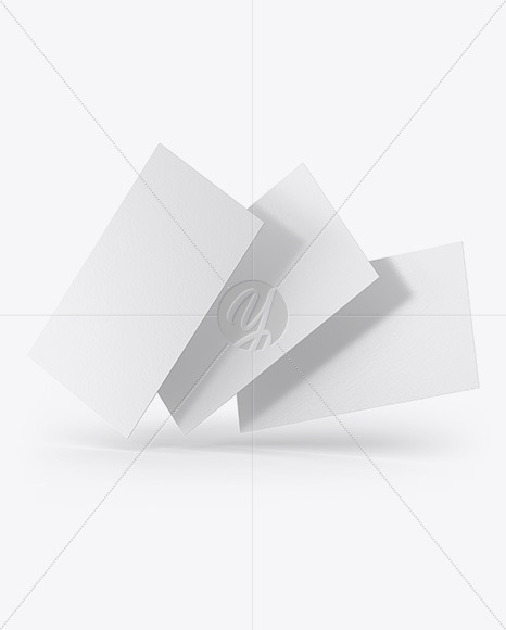 Paper Business Cards Mockup