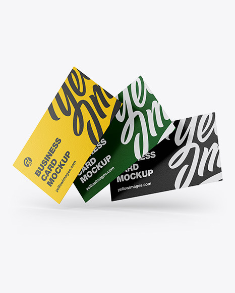 Download Textured Business Cards PSD Mockup