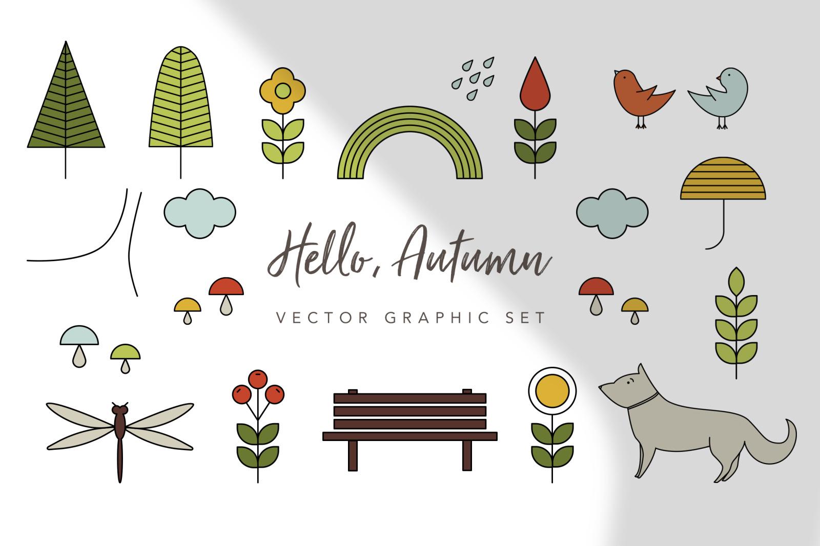 Hello Autumn Graphic Set