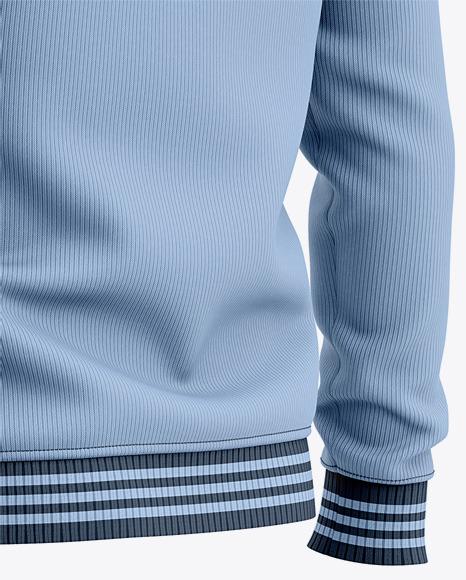 Men's Crew Neck Sweatshirt / Sweater Mockup - Back Half Side View