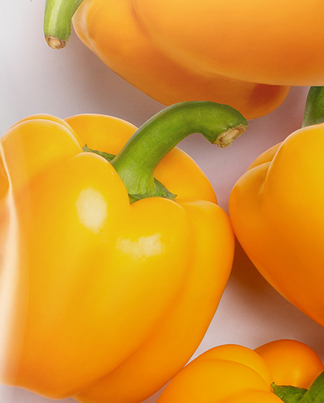 Plastic Bag With Yellow Sweet Peppers Mockup