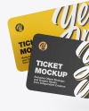 Two Paper Tickets Mockup