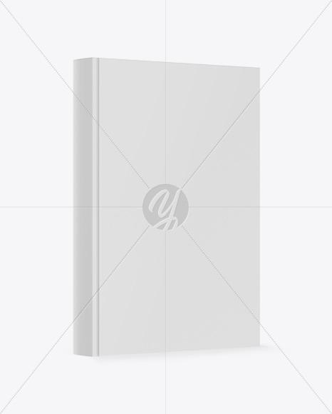 Book W Matte Cover Mockup - Half Side View