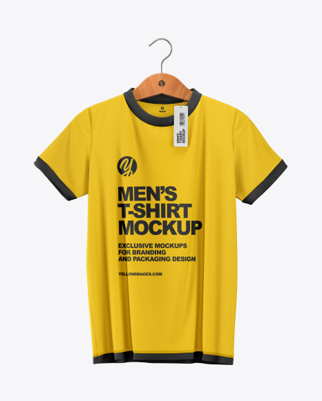 Download Polo Shirt On Hanger Mockup Yellow Images