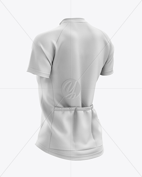 Women's Cross Country Jersey mockup (Back Half Side View)