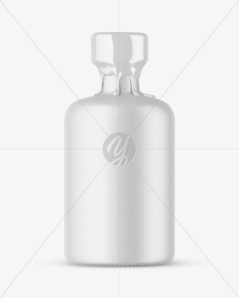 Textured Ceramic Bottle with Wax Mockup