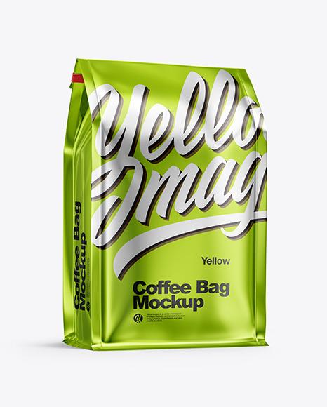 Download Metallized Coffee Bag PSD Mockup