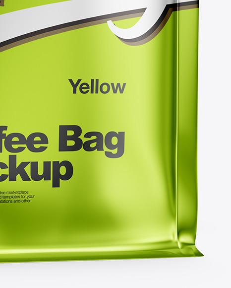 Metallized Coffee Bag Mockup