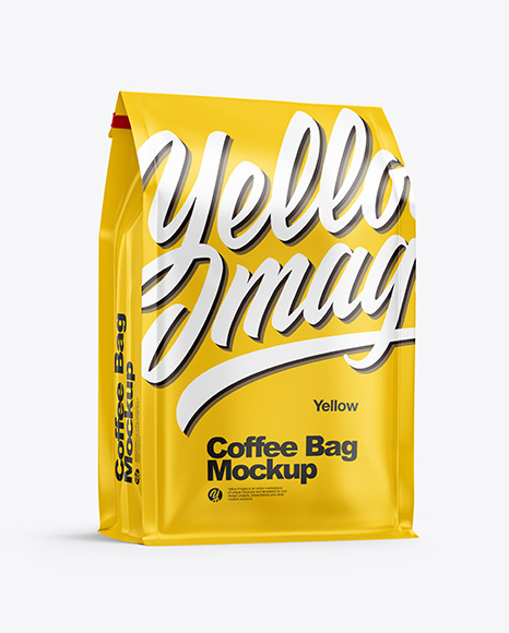 Download Matte Coffee Bag PSD Mockup