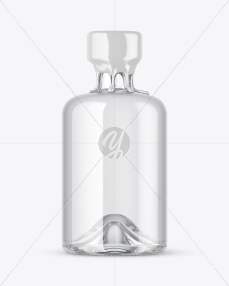 Download Clear Glass Bottle With Black Rum Mockup PSD - Free PSD Mockup Templates