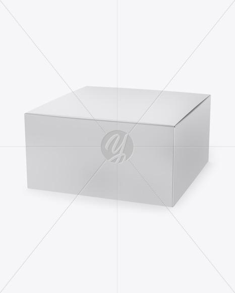 Download Glossy Box Label Mockup Half Side View PSD - Free PSD Mockup Templates