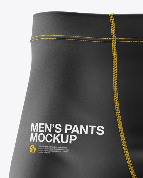 Men's Pants Mockup - Front View