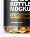 Clear Glass Whiskey Bottle with Wax Mockup