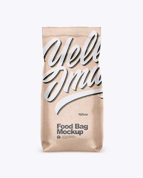 Download Kraft Paper Food Bag PSD Mockup