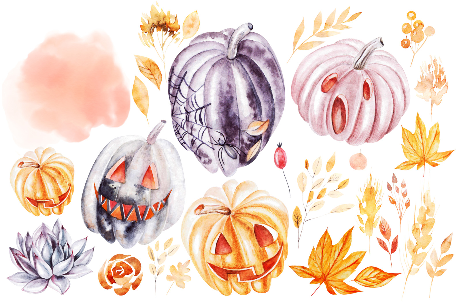 Watercolor Halloween collection