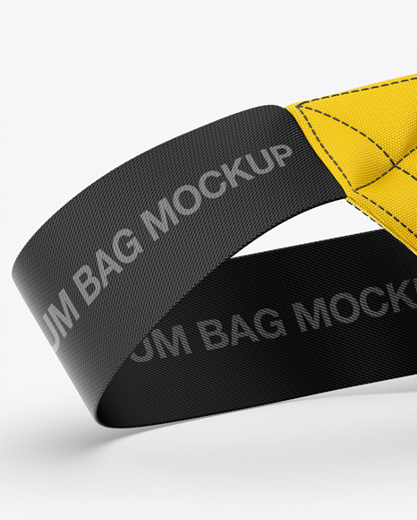 Bum Bag Mockup - Front Half-Side View