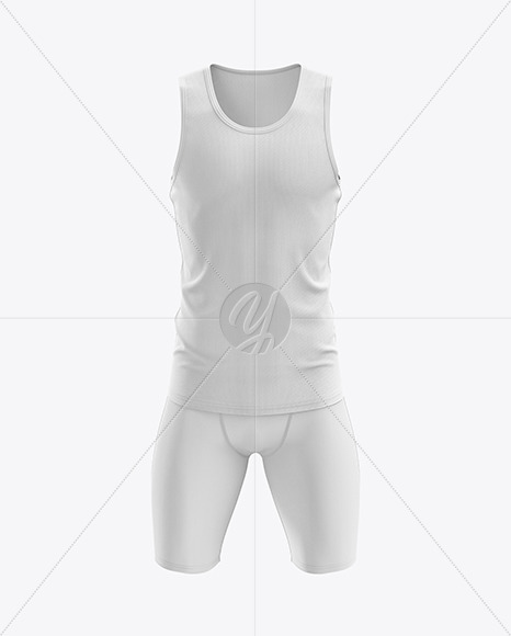 Men's Sprinting Kit mockup (Front View)