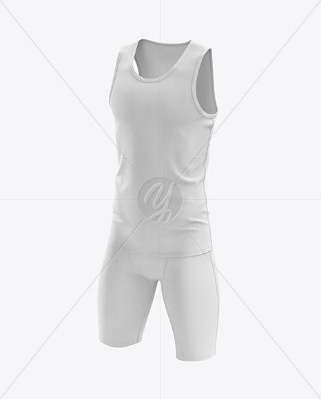 Men's Sprinting Kit mockup (Half Side View)