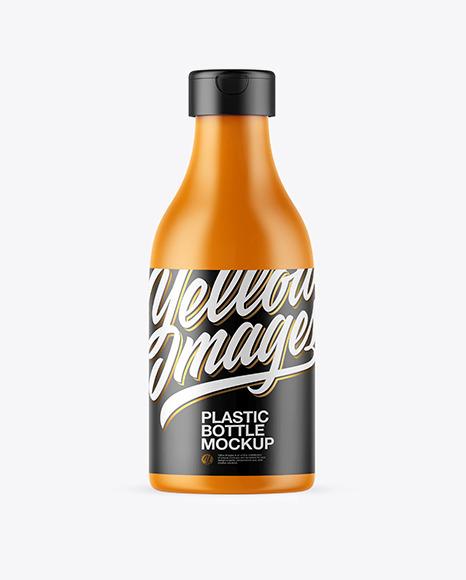 Download Matte Plastic Bottle PSD Mockup