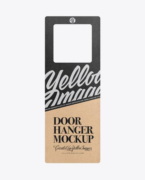 Download Kraft Door Hanger PSD Mockup