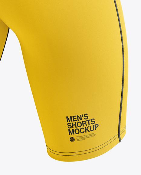 Men's Sprinting Kit mockup (Back Half Side View)