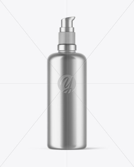 Metallic Cosmetic Bottle