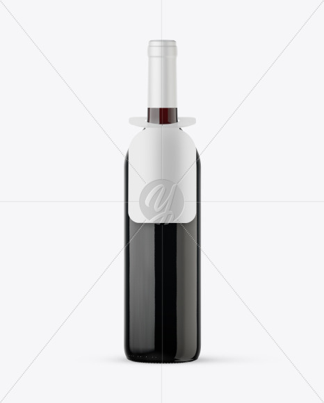 Green Glass Red Wine Bottle Mockup