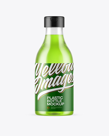 Download Clear Plastic Bottle PSD Mockup