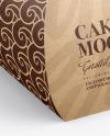 Kraft Cake Box Mockup