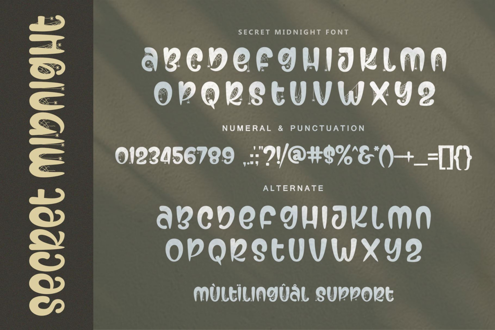 Secret Midnight Spooky Font