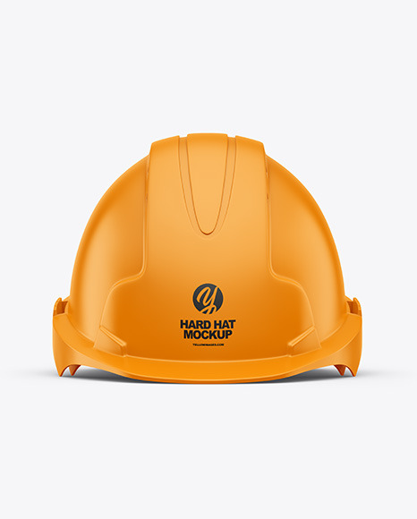 Download Matte Hard Hat Mockup Half Side View Yellow Images