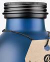 Frosted Blue Bottle Mockup