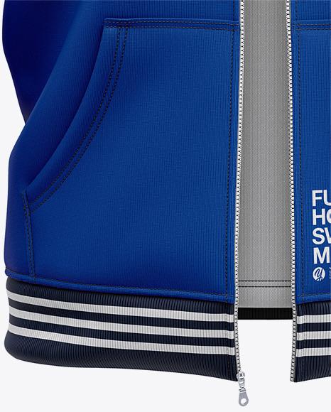 Full-Zip Hooded Sweatshirt - Front View