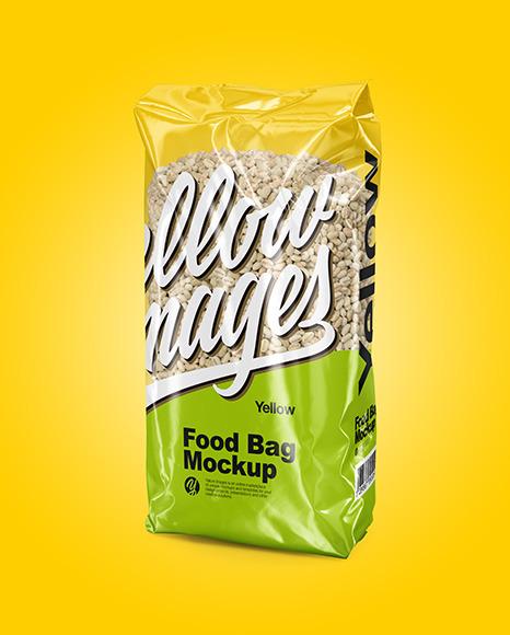 Food Bag with Pearl Barley Mockup