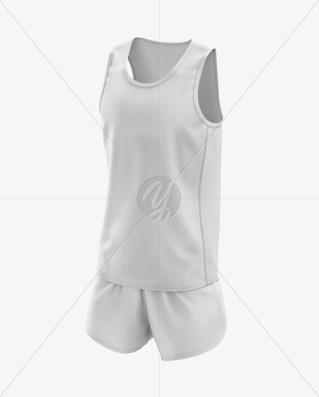 Men's Running Kit mockup (Half Side View)