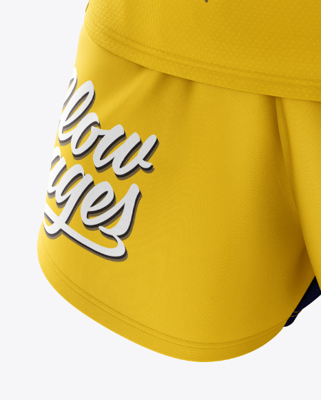 Download Mens Running Singlet Mockup Front View Yellow Images